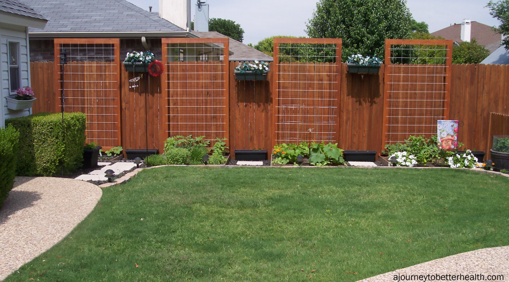 Square Foot Garden with a beautiful fence! #PinMyDreamBackyard