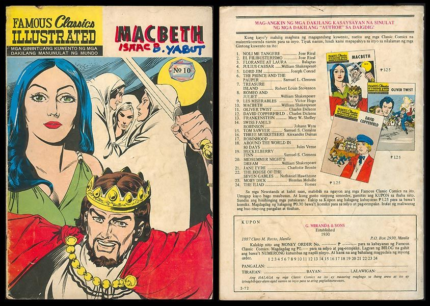 the differences of macbeth and lady macbeth in the novel Comparing characters in frankenstein  he was hurting lady macbeth  of each novel as seen by the witches in macbeth and the.