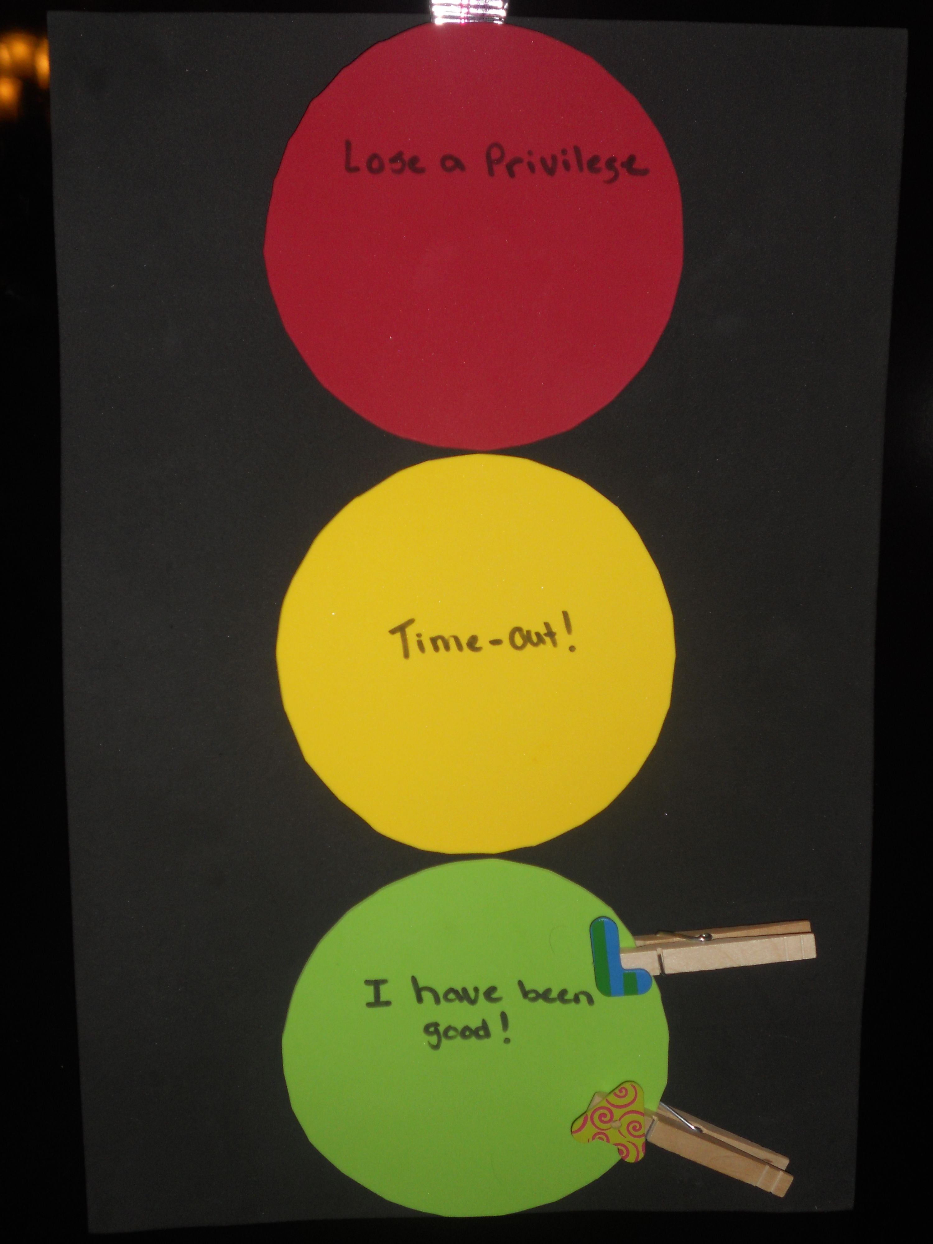 Stop light behavior chart completed pintrest projects pinterest