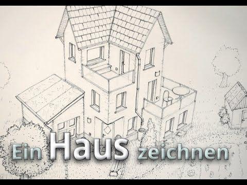 Ein Haus zeichnen Konturierung outlines Tusche [Haus 02