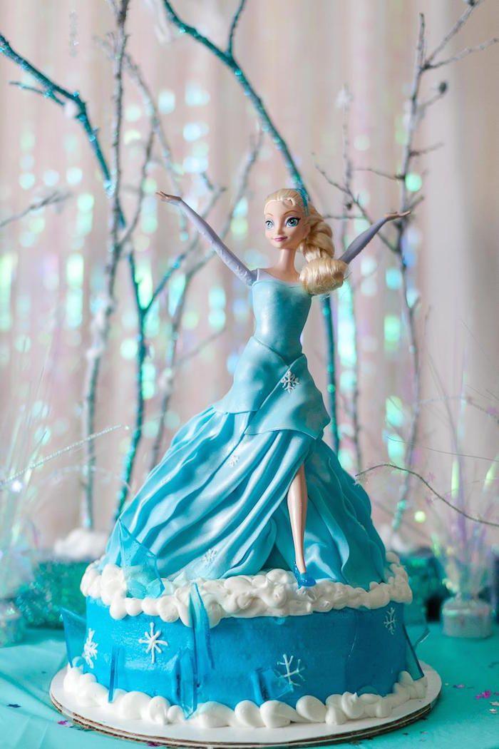 Frozen Birthday Party via Karas Party Ideas this cake