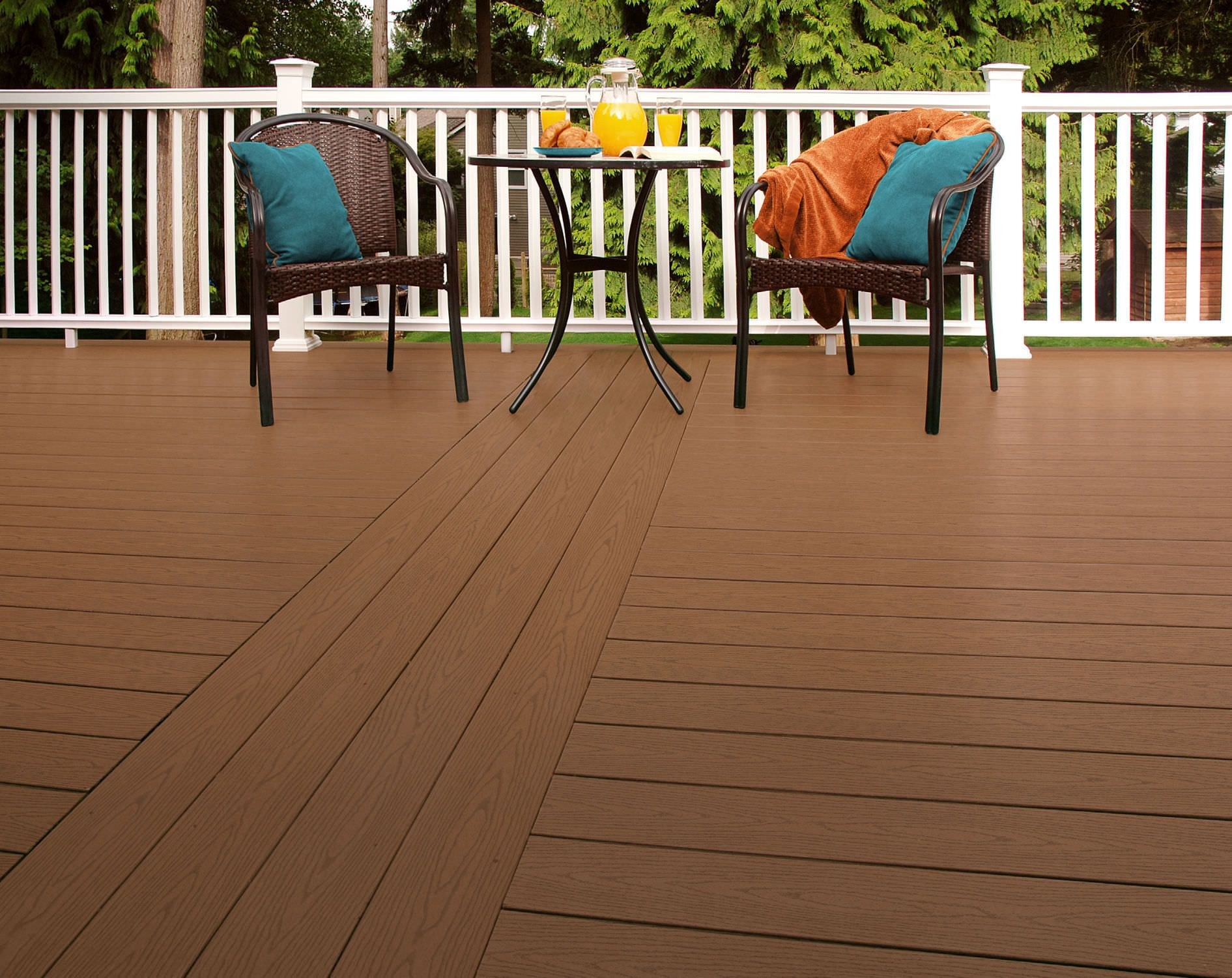 Wood plastic composite flooring materials high density for Wpc decking