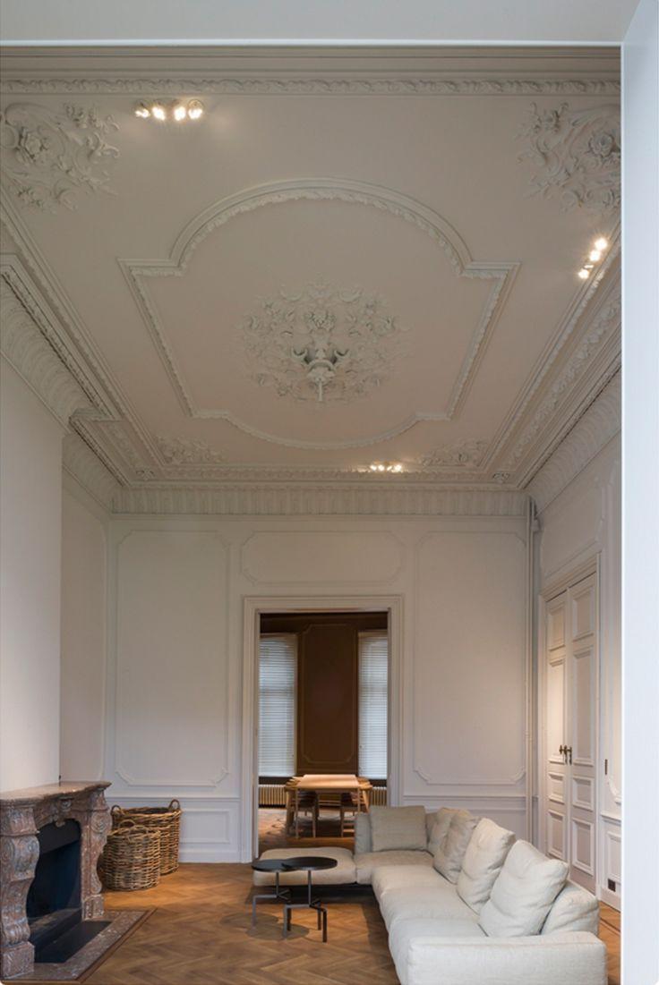 Ghent house by hans verstuyft architecten insanley brilliant details all made of plaster european tradesmen what talent