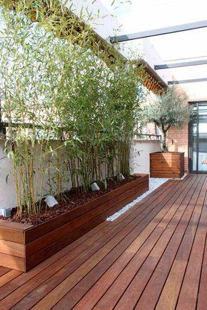Brise vue bambou et clôture pour plus dintimité dans le jardin ...