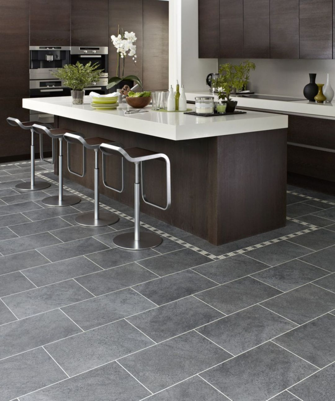 27 Awesome Kitchen Floor Design Ideas That Looks More Stylish Grey Kitchen Floor Modern Kitchen Flooring Grey Tile Kitchen Floor