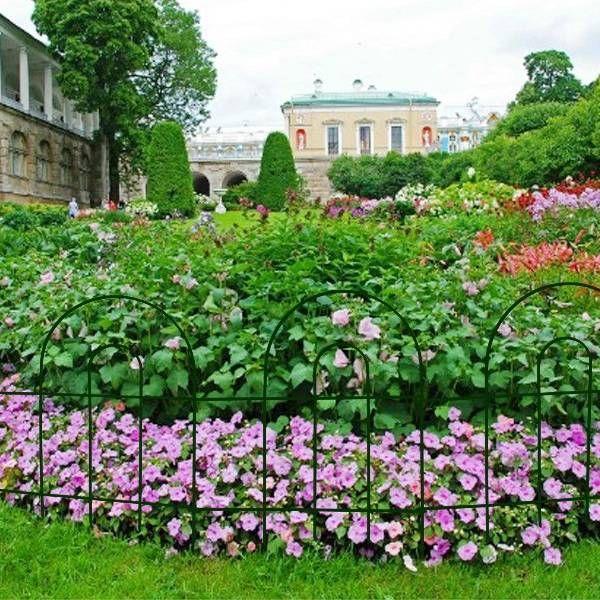 Black Garden Border Fence For Flower Garden Protect 400 x 300