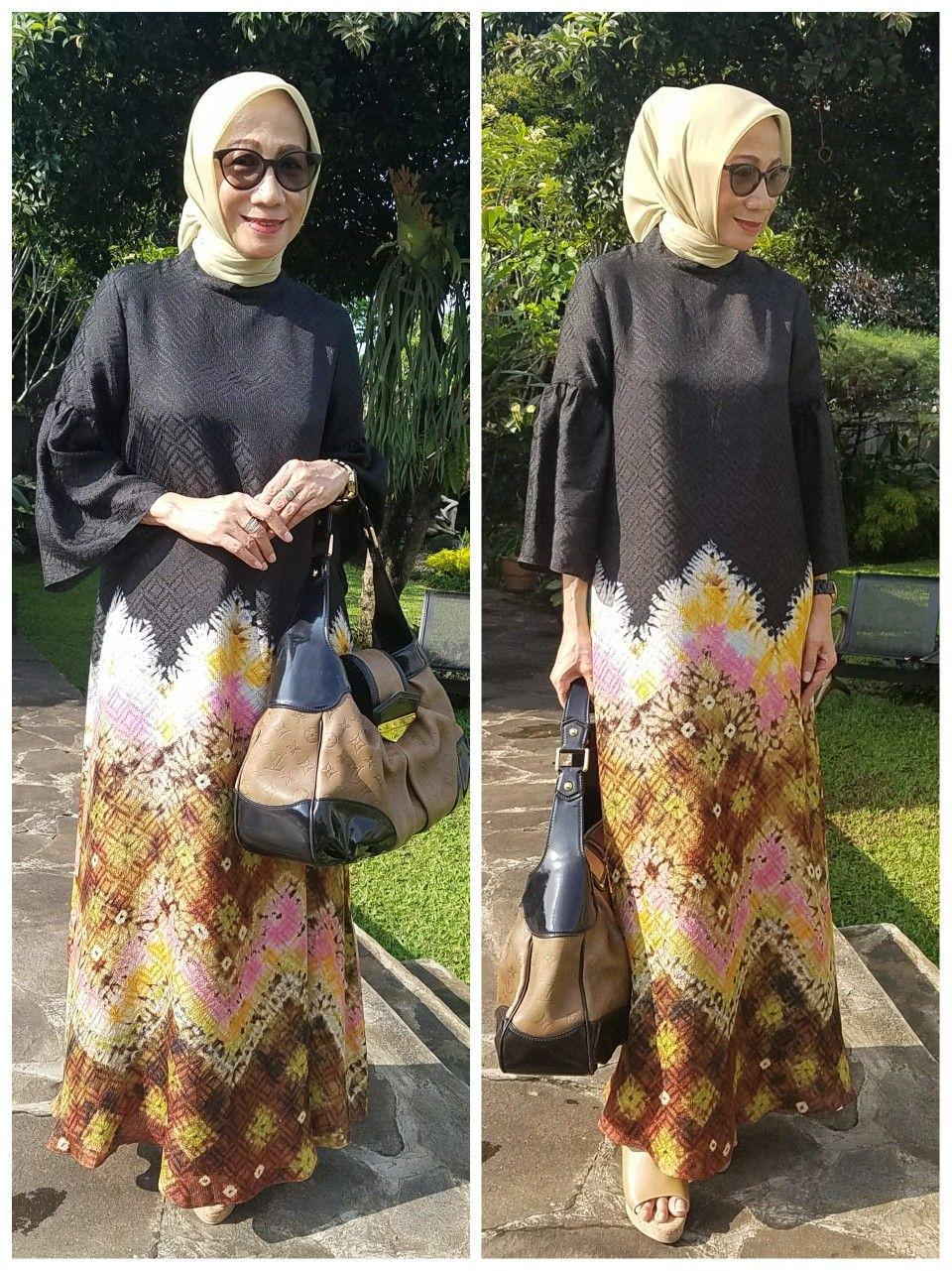 Abaya jumputan palembang By Sekar Satari  Pakaian wanita, Model