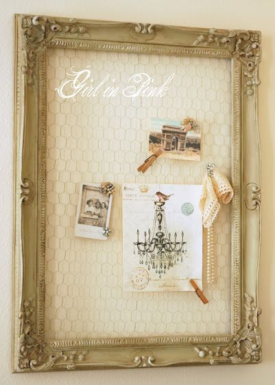 DIY Chicken Wire Idea Board!