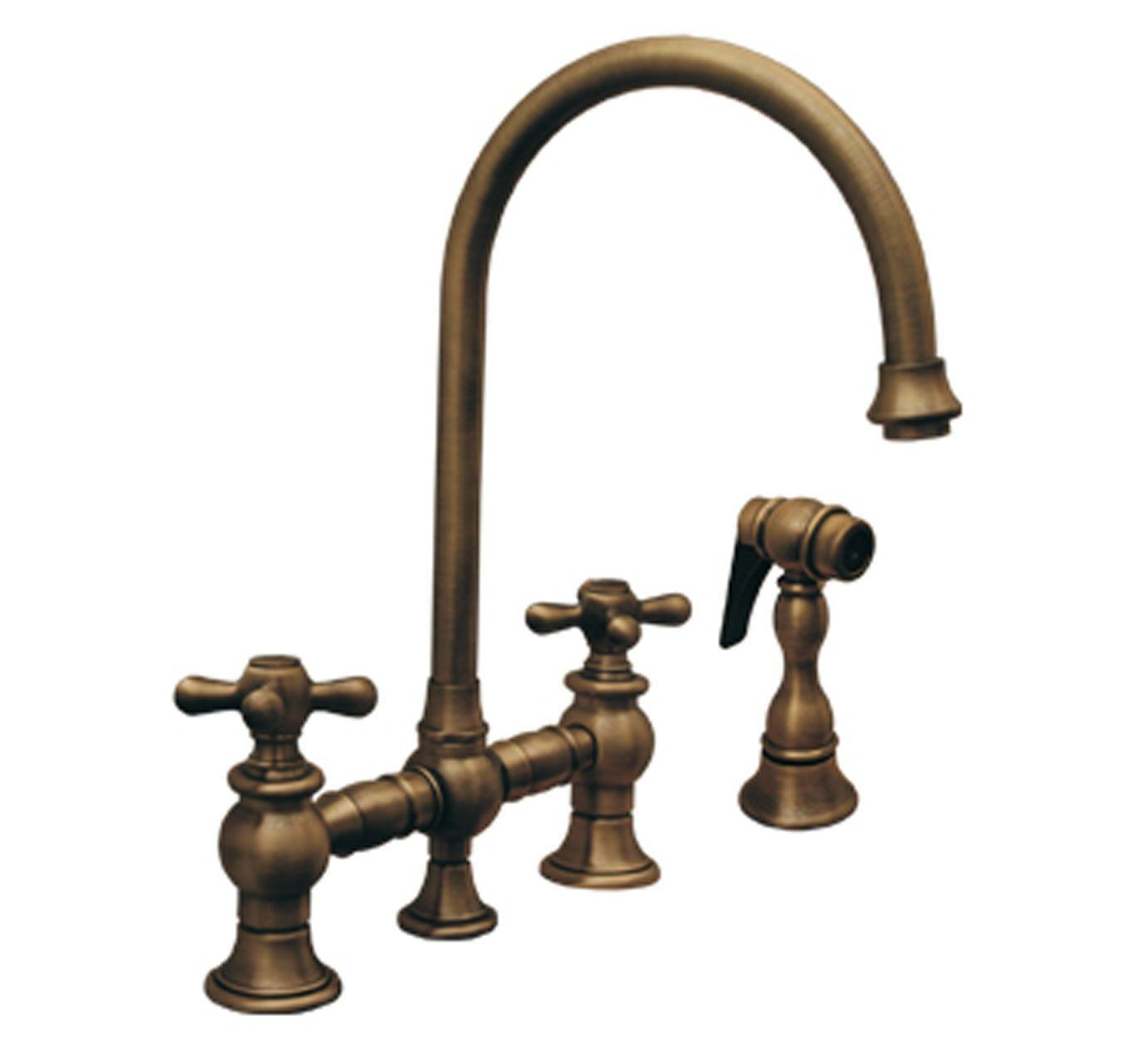 Whitehaus WHKBCR3 9101 ACO Vintage Iii 8 1/8 Inch Bridge Faucet. Kitchen ...