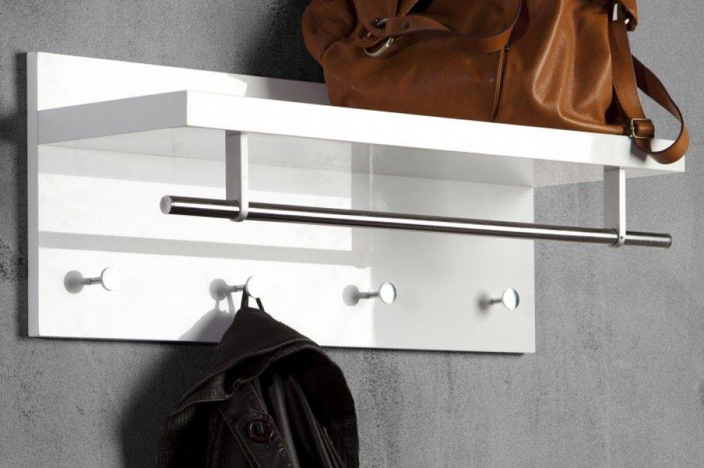Wandgarderobe Garderobe Mit Drei Haken Und Eine Stange Breite 75