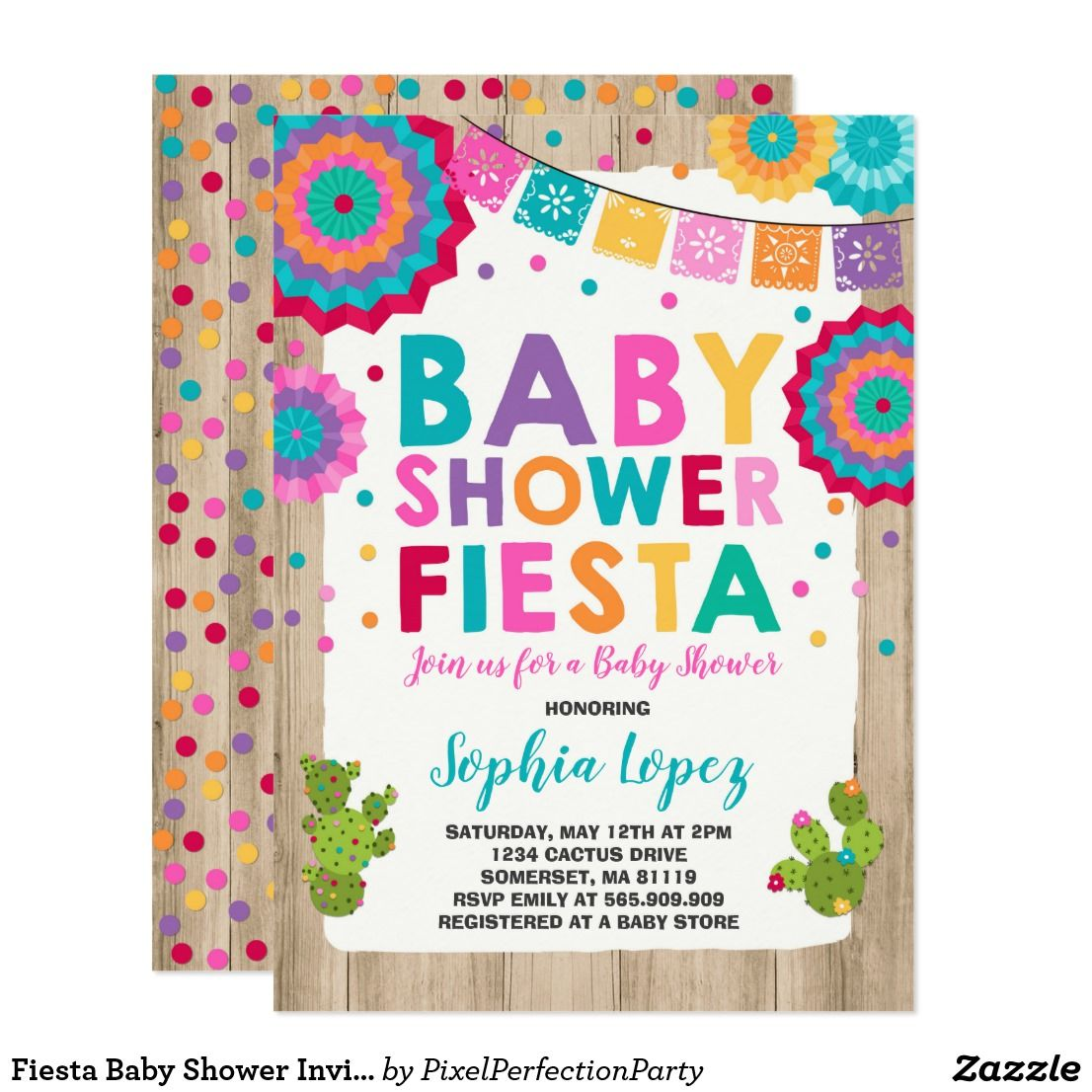 Fiesta Baby Shower Invitation Mexican Baby Shower Fiesta Baby Shower ...