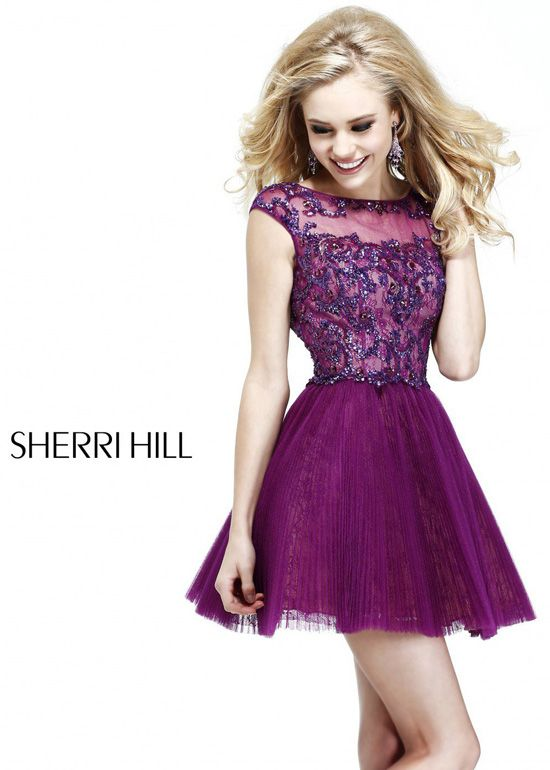 Plum Sherri Hill Short Dress