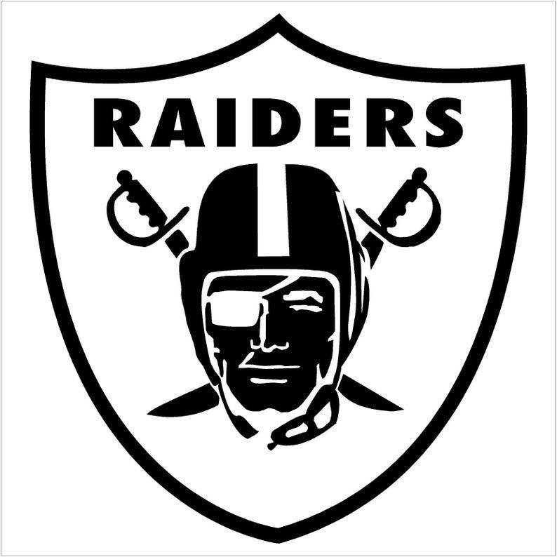 Oakland Raiders Vinyl Decal Car Window Mirror Bumper Etsy In 2020 Raiders Wallpaper Raiders Stickers Raiders Emblem