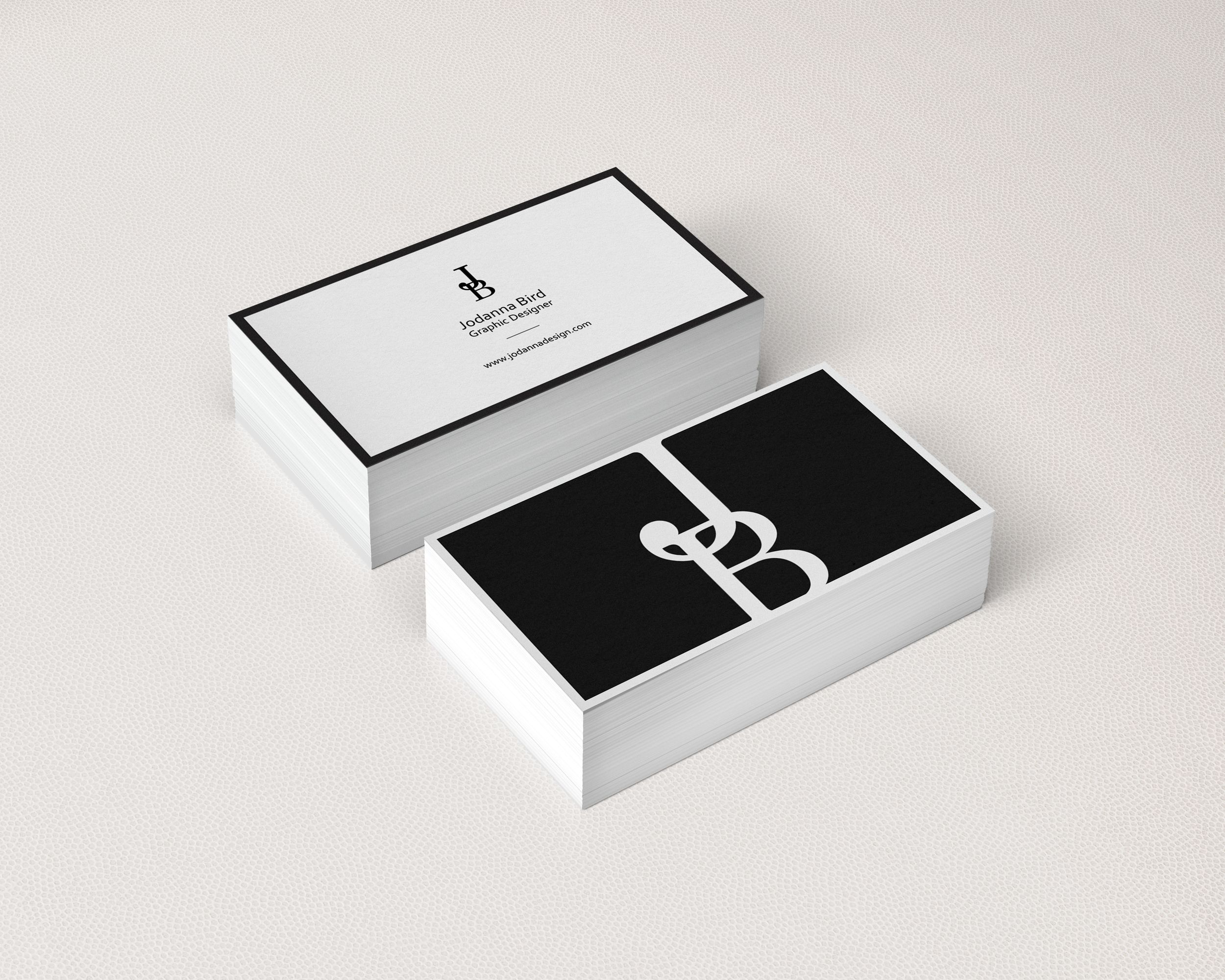 personal branding concept jodanna bird design black u0026 white elegant business cards