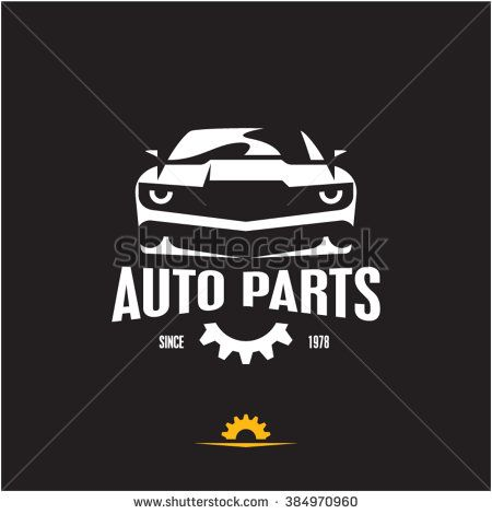 Car Parts Icon Auto Parts Label Sports Car Silhouette Logo