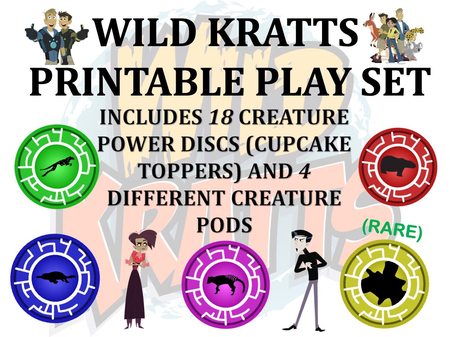 Wild Kratts Play Set Available For Purchase Today Wild Kratts Playset Wild Kratts Birthday