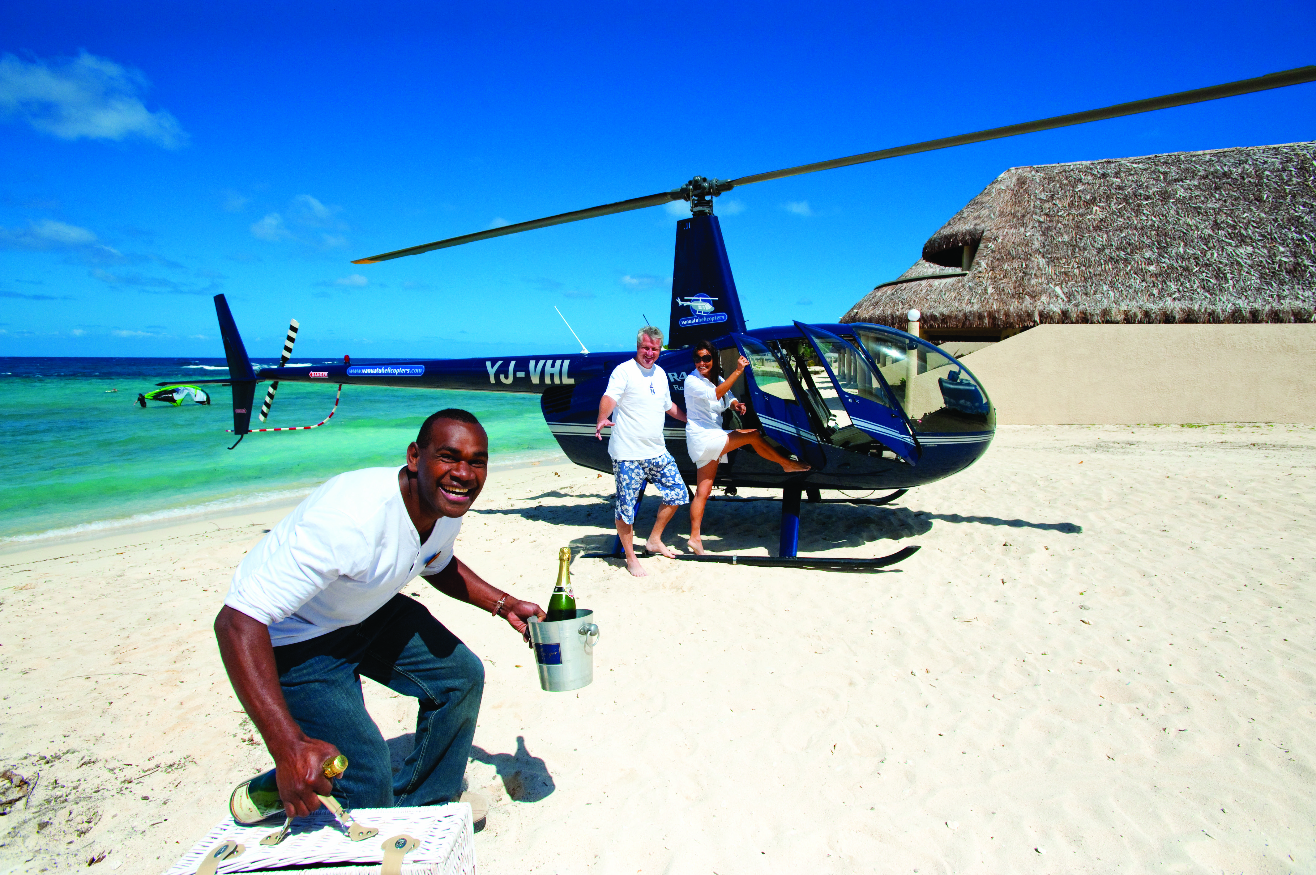 Helicopter Picnic at Breakas Beach Resort