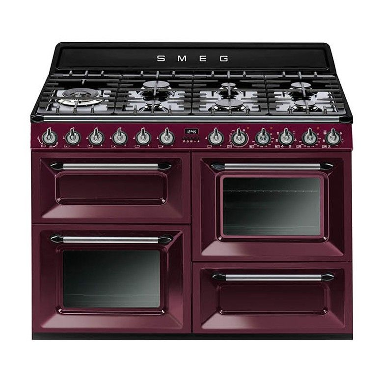 Smeg Victoria 110 Red Wine Dual Fuel Range Cooker Range Cooker Dual Fuel Range Cookers Smeg