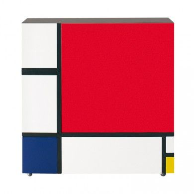 RANGEMENT HOMAGE TO MONDRIAN Meubles avec portes et tiroirs inspirés - meuble de rangement avec tiroir