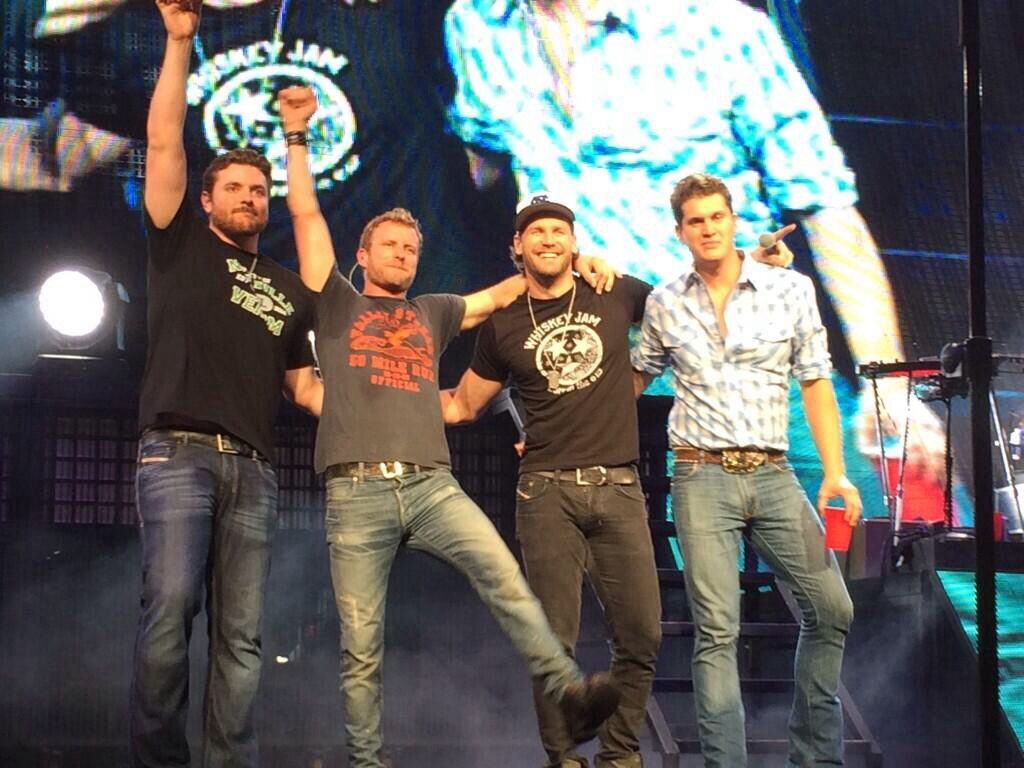 cy with dierks bentley, chase rice, and jon pardi in charlotte, nc