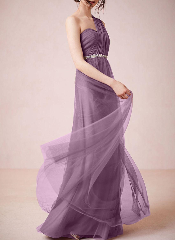 Fashion Solid Multi-Way Wedding Evening Gown Mesh Dress - AZBRO.com ...