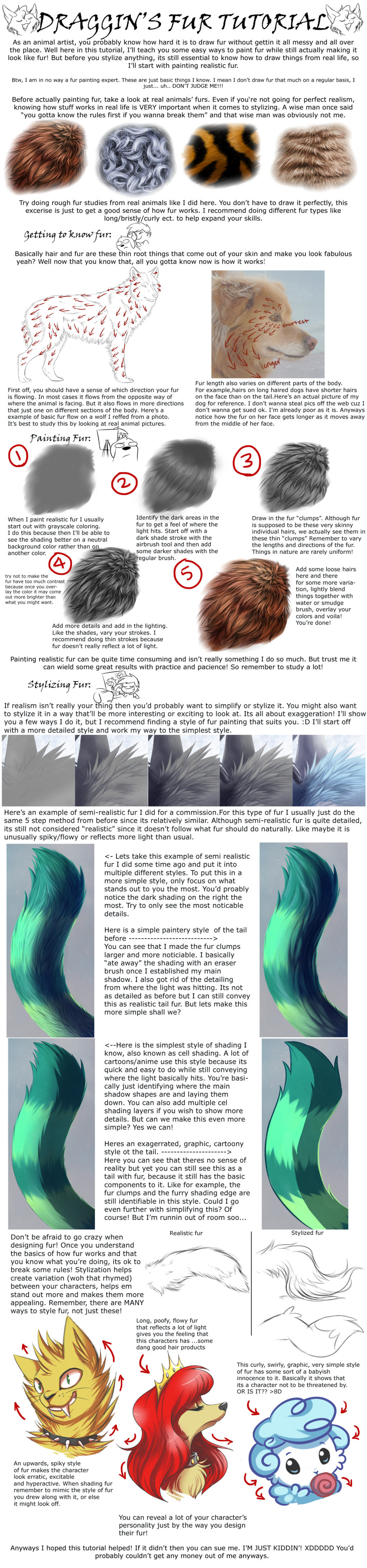 Painting and Stylizing Fur Tutorial by DragginCatdeviantartcom