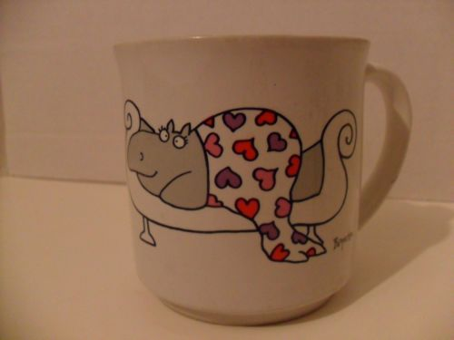 BOYNTON Hippo Valentine Mug Cup I Love You More Than Chocolate Coffee Tea Hearts