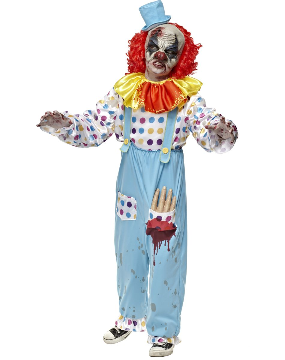 Scary Clown Costumes | Wriggly Mortie Child Costume | Halloween ...