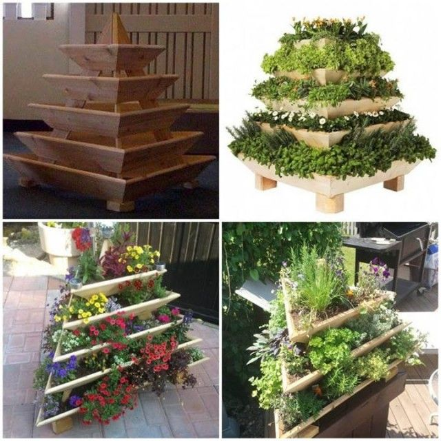 How To DIY Vertical Pyramid Tower Garden Planter Tutorial