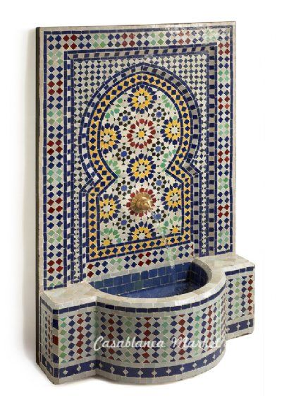 Moroccan mosaic fountain. In my house somewhere, please.