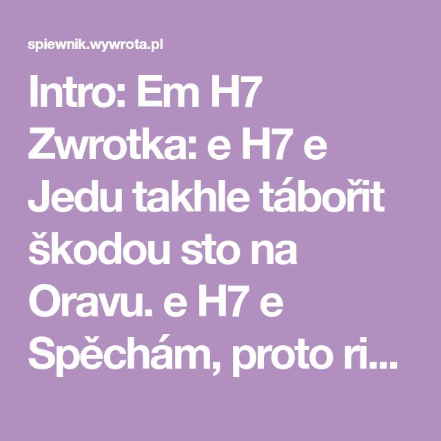 Jozin Z Bazin Ivan Mladek Tekst Piosenki I Chwyty Na Gitare In 2020
