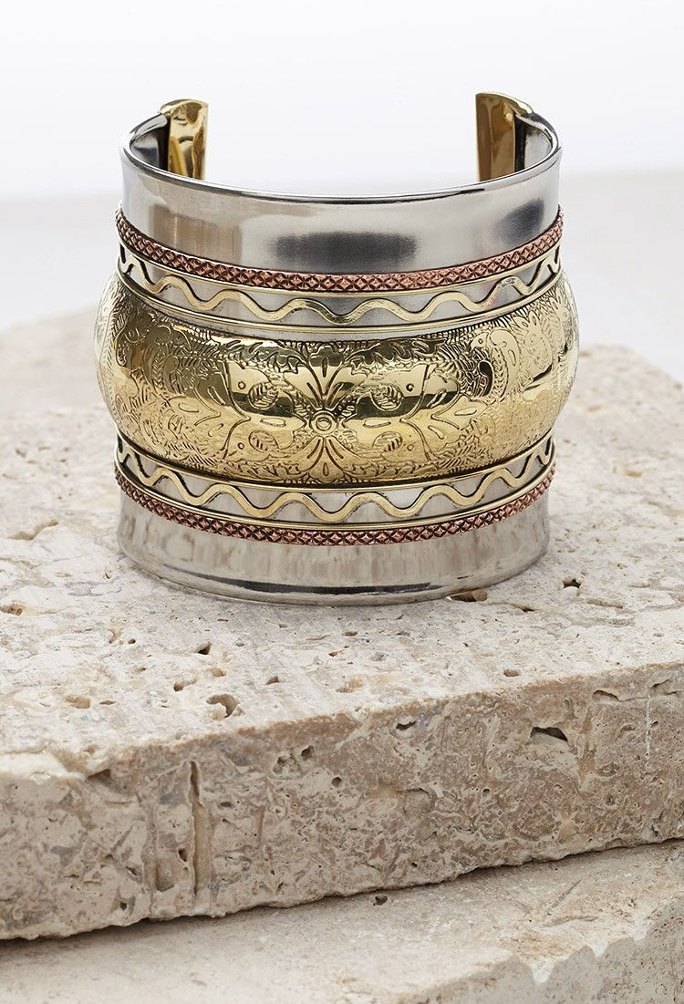 Oversized Etched Cuff