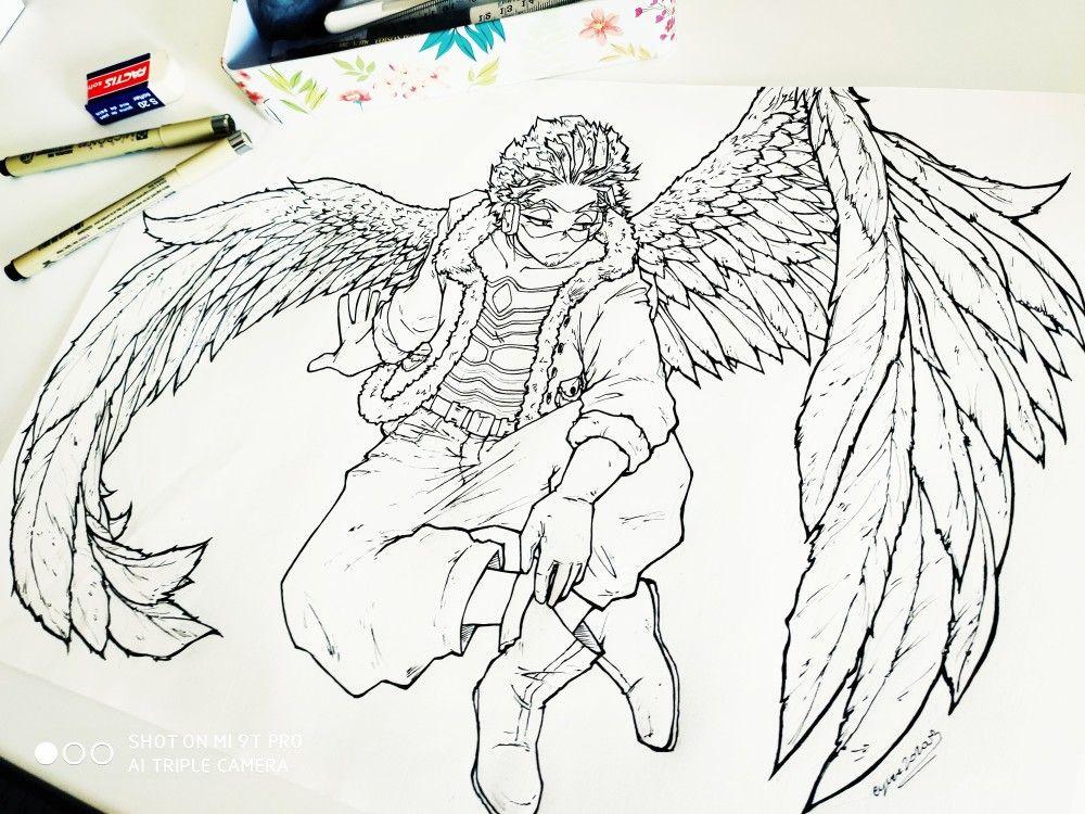 Hawks From Boku No Hero Academia Hero My Hero Hawk