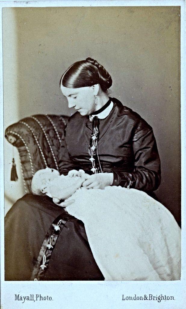 On The Reverse Is Written Darling Little Ernest November 6th 1868