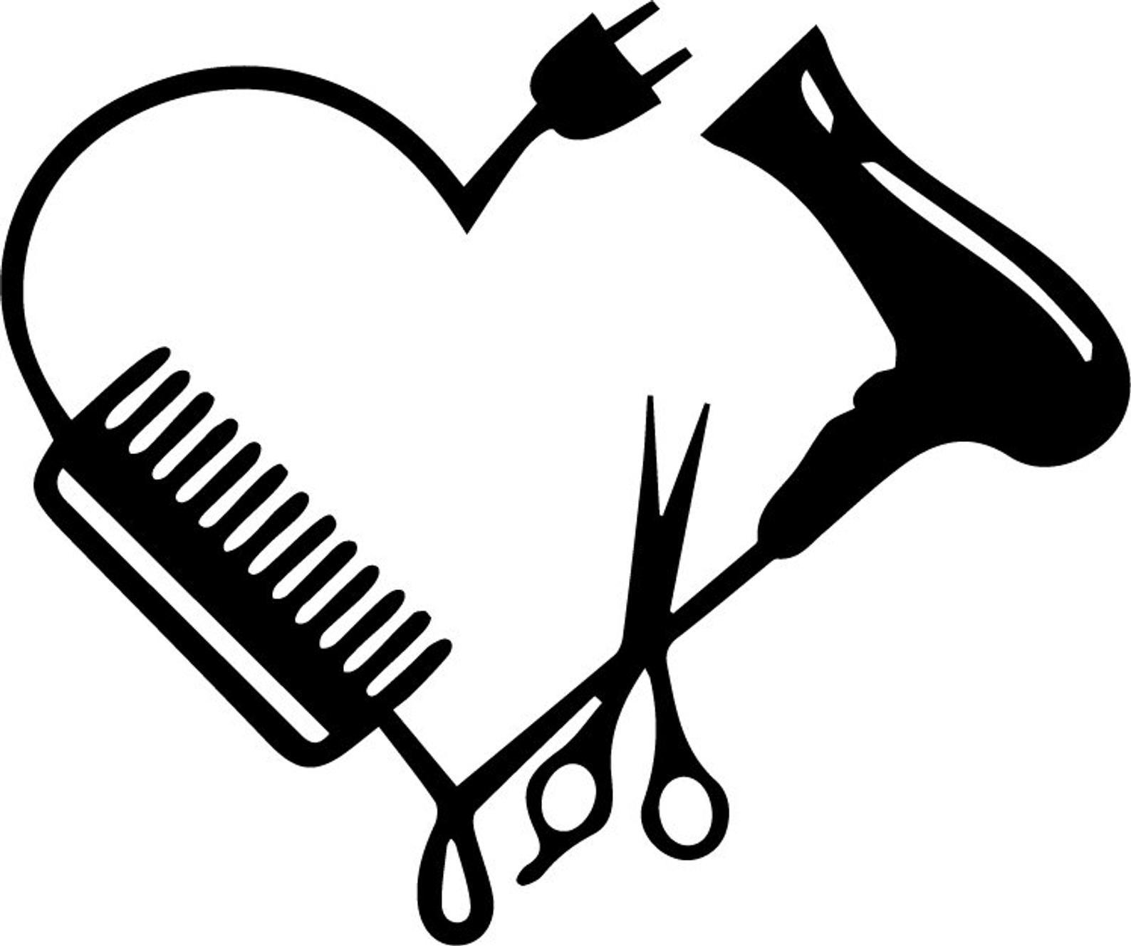 Download Hairdresser Heart SVG | Etsy in 2020 | Hair stylist logo ...