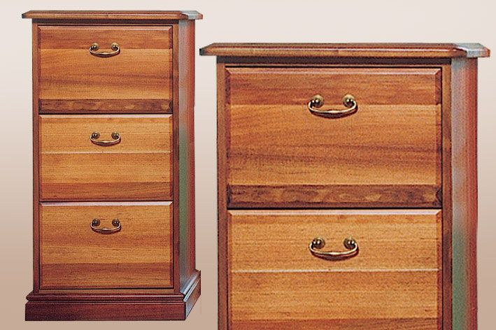 timber filing cabinet