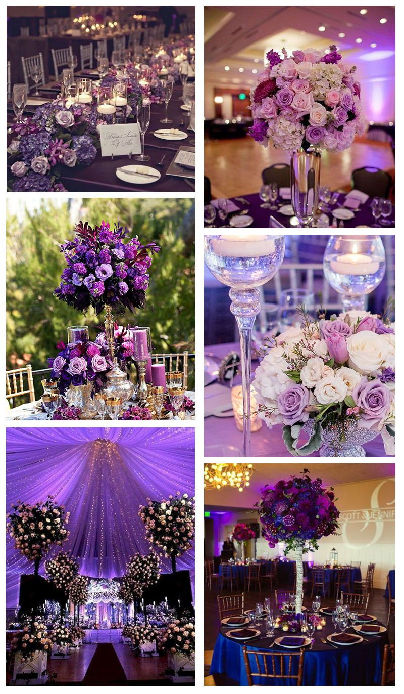 50 Purple Wedding Centerpieces Wedding Flowers Wedding