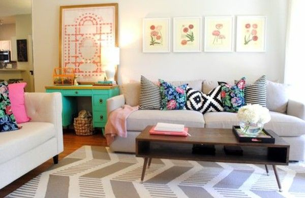 Wohnzimmer Günstig ~ Wohnzimmer texturen heimtextilien lampen günstig design sofa