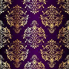 Metallic Damask Pattern Inspired By Indian Fabrics