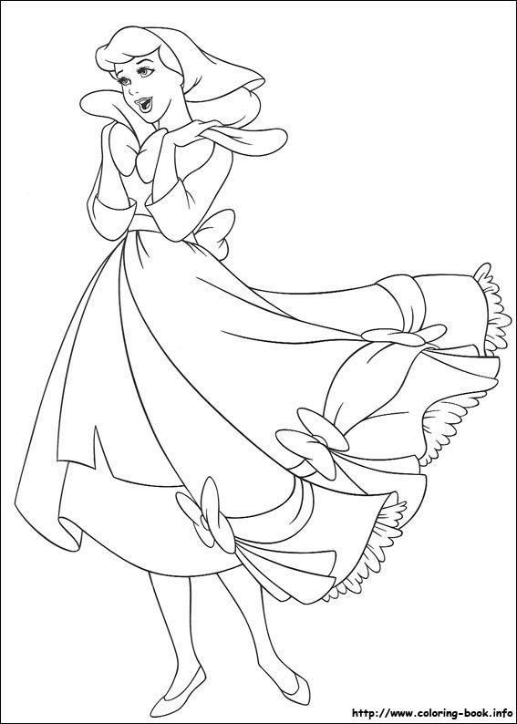 Cinderella coloring picture   x-stitch   Pinterest   Patterns ...