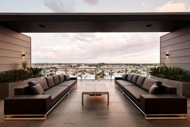 Cubo Luxus Penthouse Wohnung Outdoor Sofa Set Ausblick Melbourne