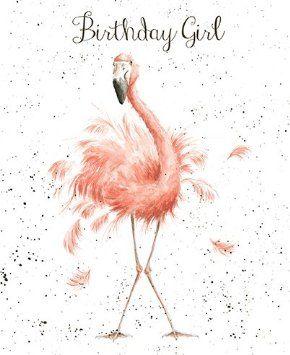 bed5e188829ed75de99da99e3338db57 greetings card wre2173 fun, feathers and whiskers birthday