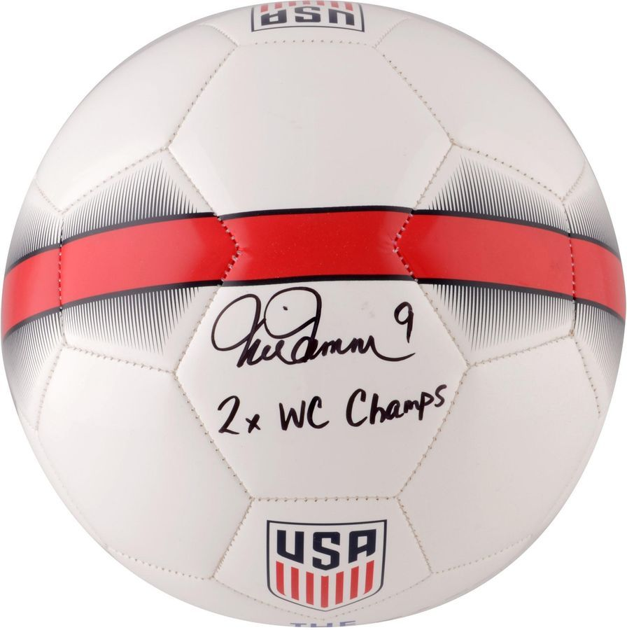 best service c2956 6ad62 Mia Hamm Team USA Signed Nike White Replica Jersey Jerseys ...