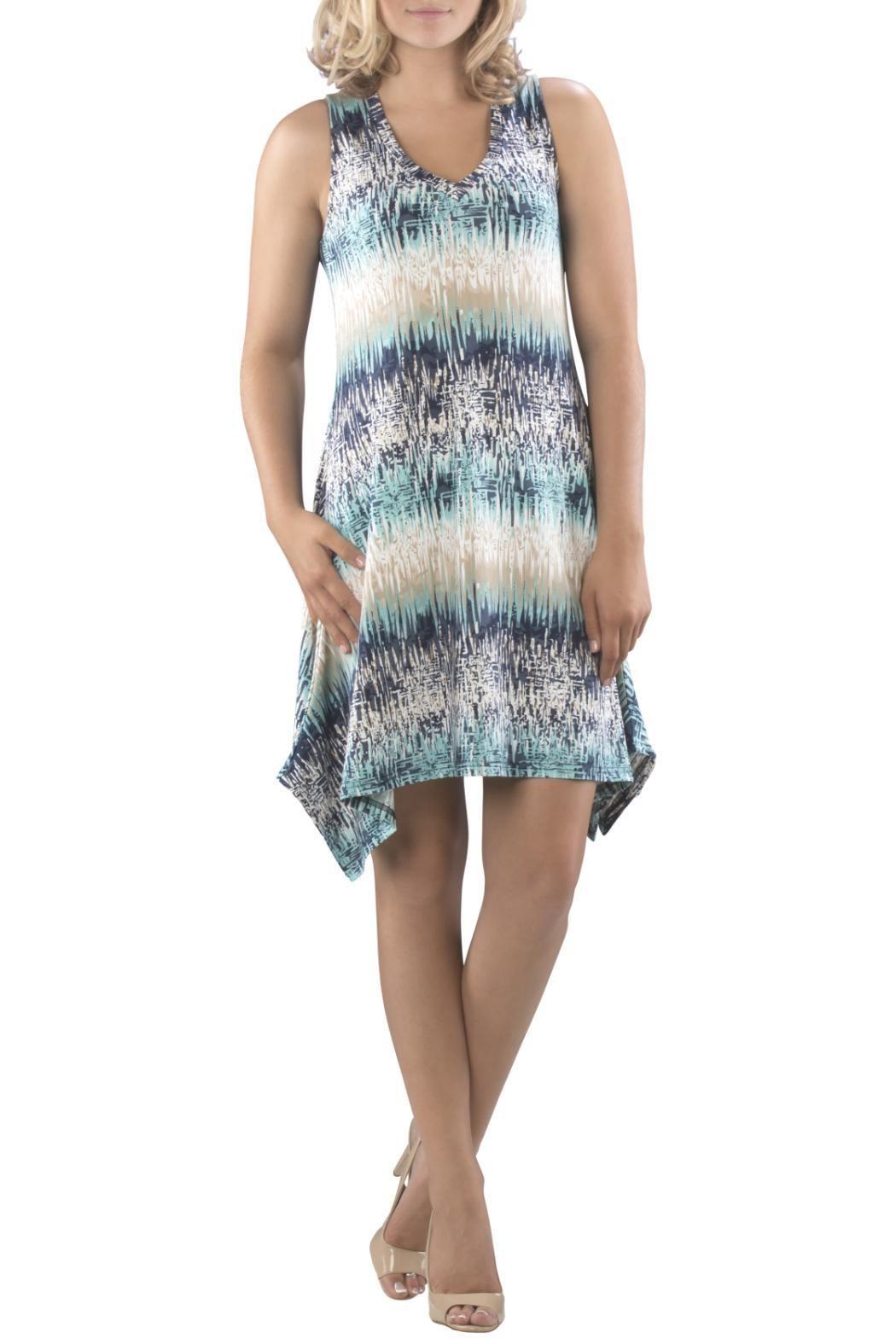 Blue printed dress v neck dress fashion dresses