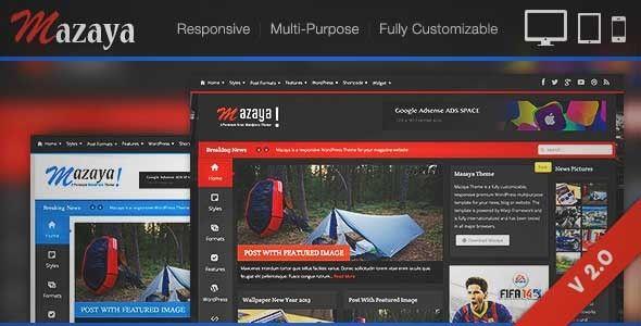 Download And Review Of Mazaya Responsive Wordpress News Magazine Theme One Of The Best Themeforest Magazine Blogs Themes Download Review At Rev Responsivo