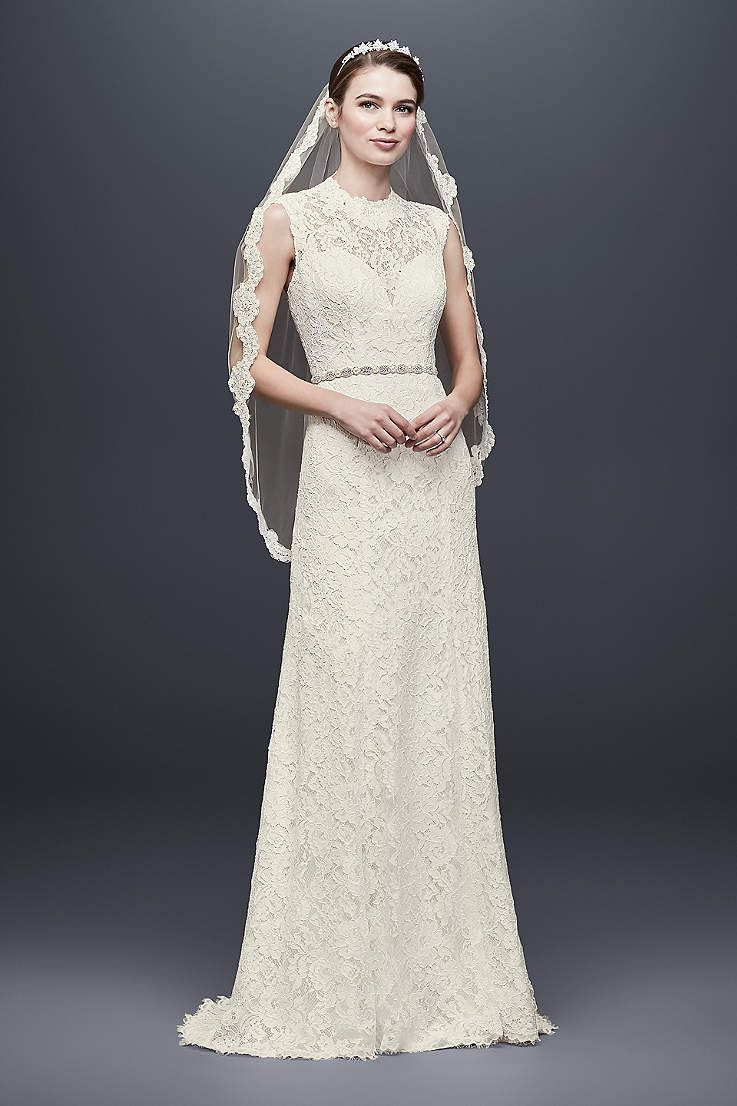 Long Sheath Beach Wedding Dress Davids Bridal Collection