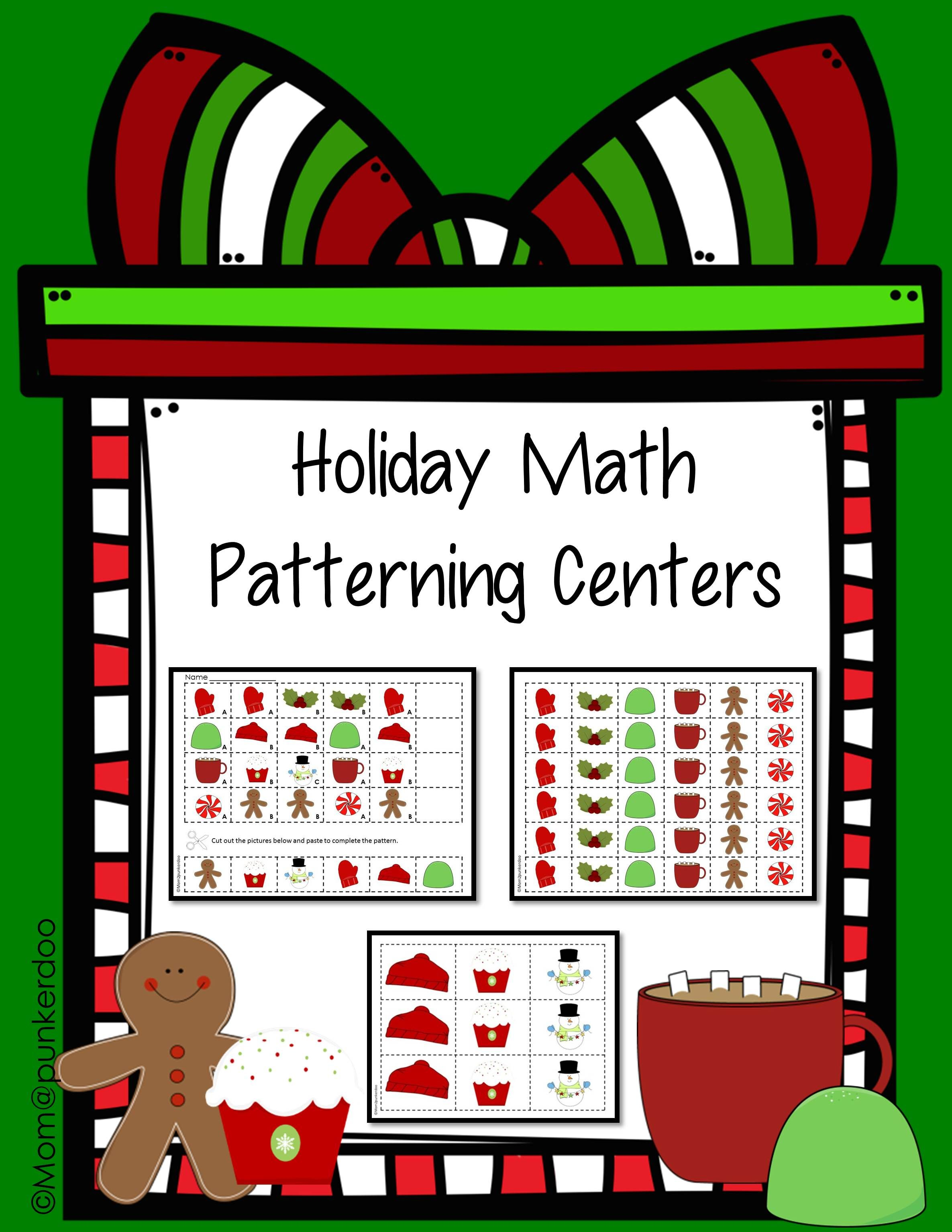 Christmas Math Patterning Activity