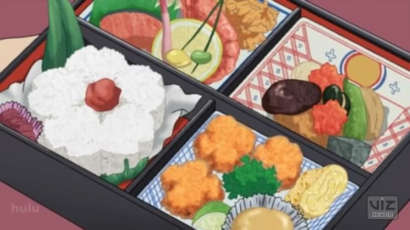 Kekkaishi, Ep.16 ~ Extravagent Bento Box | Anime bento, Japanese food  illustration, Food illustrations