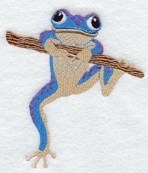 PRINCE WILL COME FROG SET OF 2 HAND TOWELS EMBROIDERED