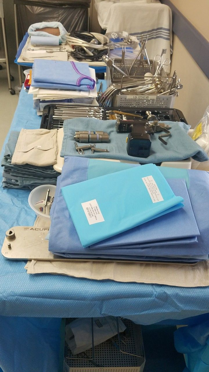 My Acl Back Table Set Up For Surgical Techs Table Set Up Table